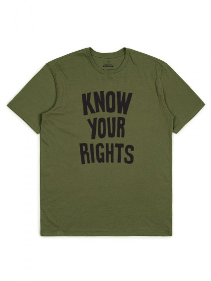 BRIXTON Strummer Collection - Know Your Rights Tee [Military Green]