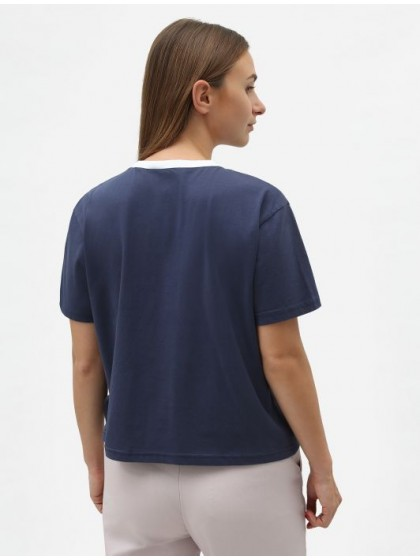DICKIES Cadwell Women's Cropped T-Shirt [Navy]