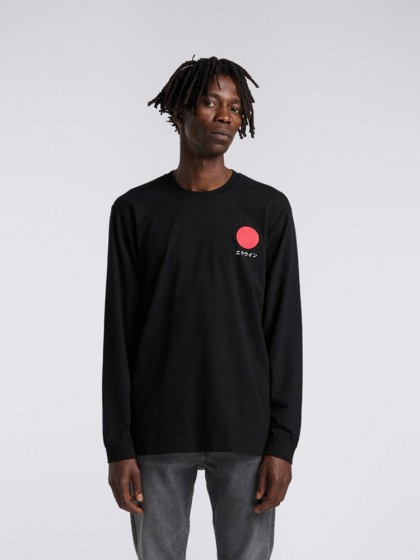 EDWIN Japanese Sun T-Shirt LS [Black]