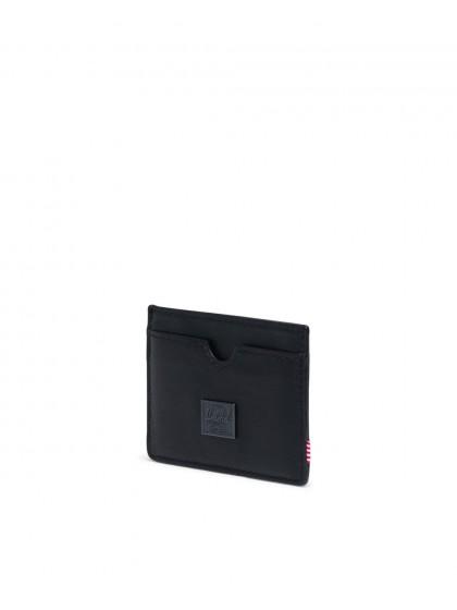 HERSCHEL Charlie Leather Cardholder [Black]