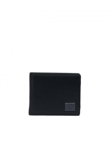 HERSCHEL Hank Leather Wallet [Black]